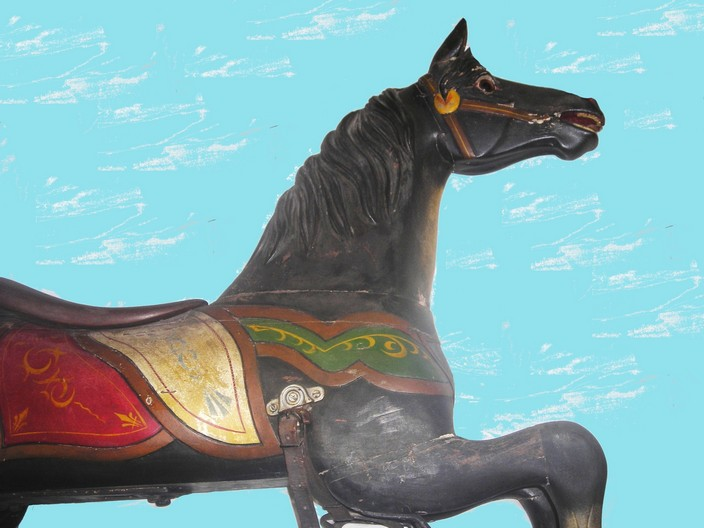 Armitage-Herschell carousel horse, circa 1898
