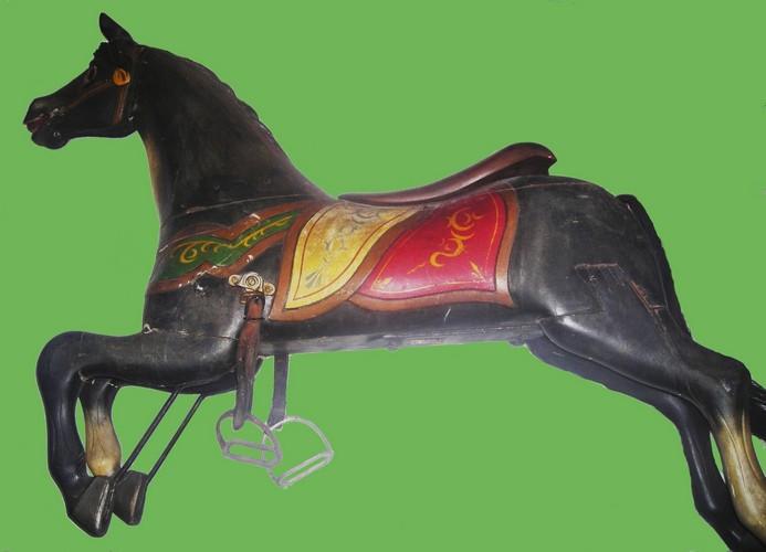 "Armitage-Herschell carousel horse, circa 1898. ""Black Beauty"""