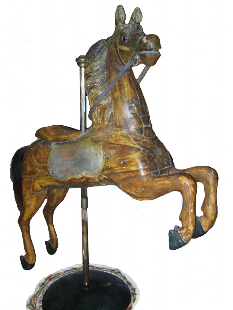 Charles Dare carousel horse, circa 1880's, 'Sandy'