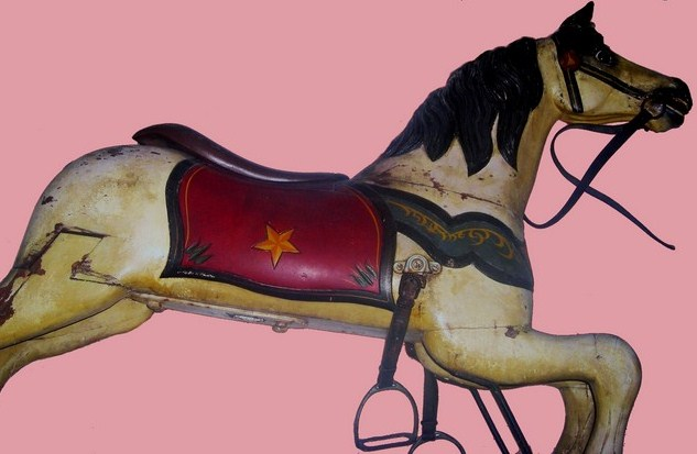 "Armitage-Herschell carousel horse, circa 1898. ""White Star"" - with original factory paint."