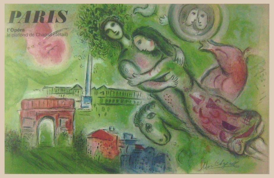 1964 Marc Chagall hand-signed Lithograph, Opera Garnier Ceiling detial, Romeo & Juliet.jpg
